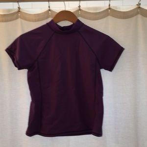 Lands end girls purple swim shirt